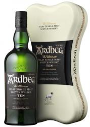 Ardbeg 10 Jahre Whisky mit Ardbone Geschenkdose 46% 0,7L