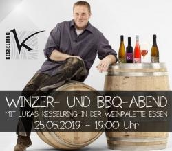 Winzer- und BBQ-Abend mit Lukas Kesselring 25.05.2019