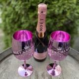 Moet & Chandon Brut Rose 0,75L mit 2 Pink Champagnergläser